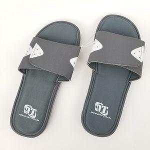 OT Revolution  Mens Slip On Sandals NWT Sizes M 10-11 Black